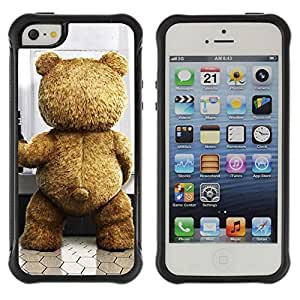"Hypernova Defender Series TPU protection Cas Case Coque pour Apple iPhone SE / iPhone 5 / iPhone 5S [Divertido lindo del oso de peluche""]"