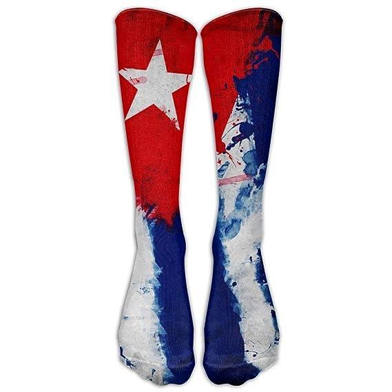 Cuba Cuba Art Flag Thin Crew Socks Calcetines de tubo ...