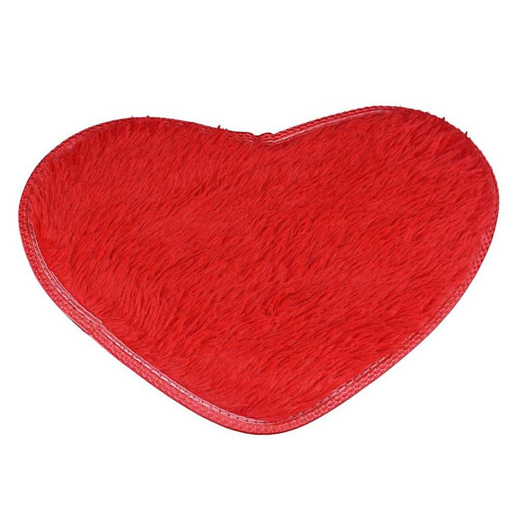 Lisin Soft 4028cm Non-slip Bath Mats Kitchen Bathroom Home Decor Dining Room Home Bedroom Carpet Floor Mat (Red)