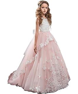 318810c4c Amazon.com: AbaoSisters Flower Girl Dress Floral Appliques ...