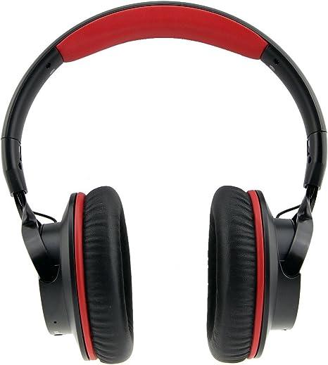 Cancelación de ruido auriculares SkyGenius con cable inalámbrico Bluetooth 4,1 auriculares de diadema (con micrófono auriculares w/micrófono integrado para PC Smart TV escucha iPhone 6S 6 Plus Samsung Galaxy S5, negro: Amazon.es: