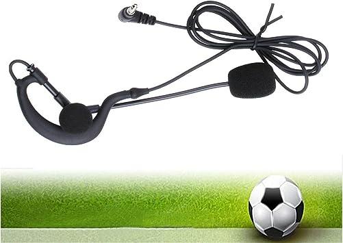 Ejeas Vnetphone Écouteurs avec microphone pour arbitre de football moto interphone V4 V6 FBIM 3,5 mm