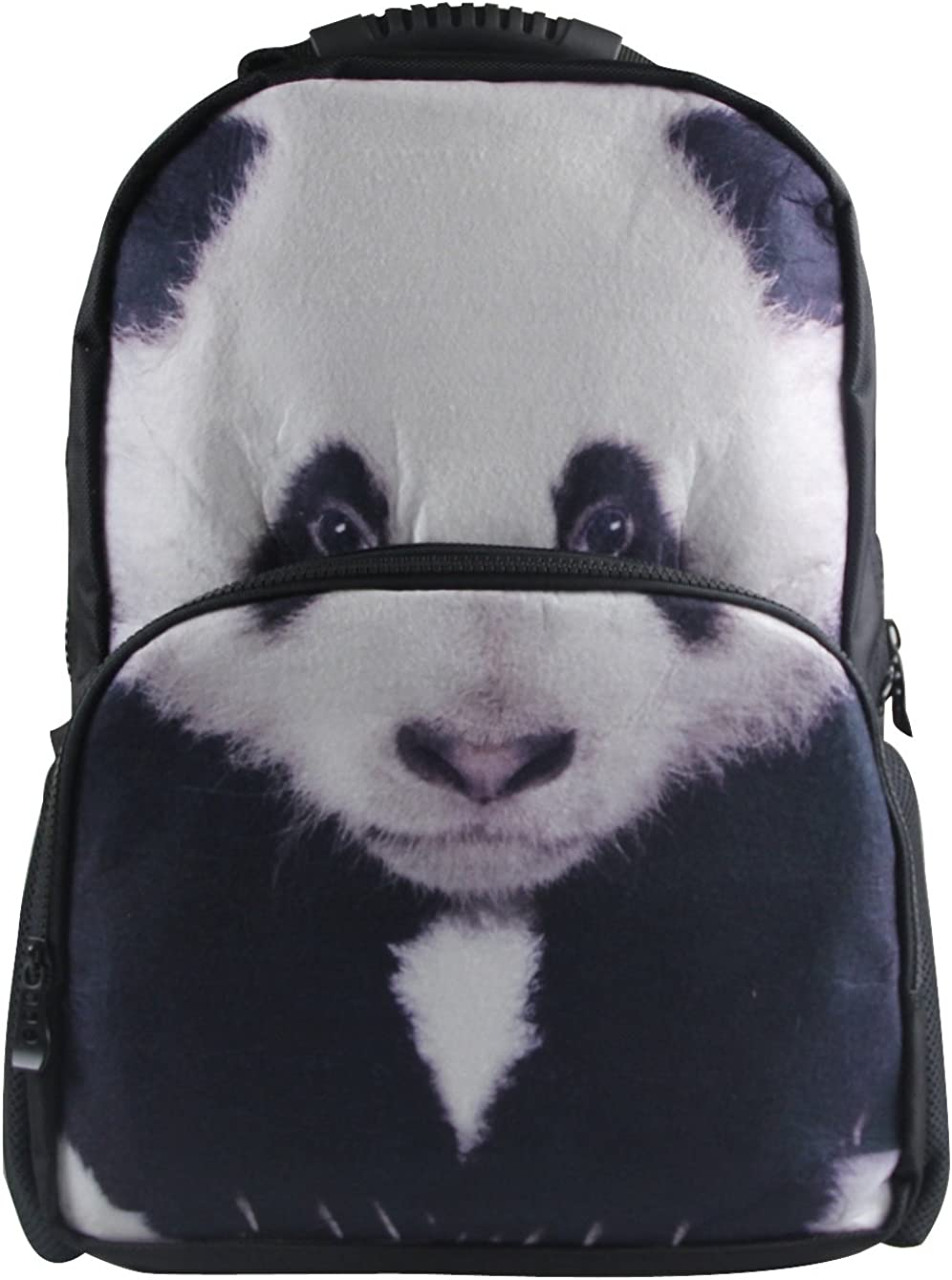 Animal Face 3D Animals Panda Backpack 3D Deep Stereographic Felt Fabric
