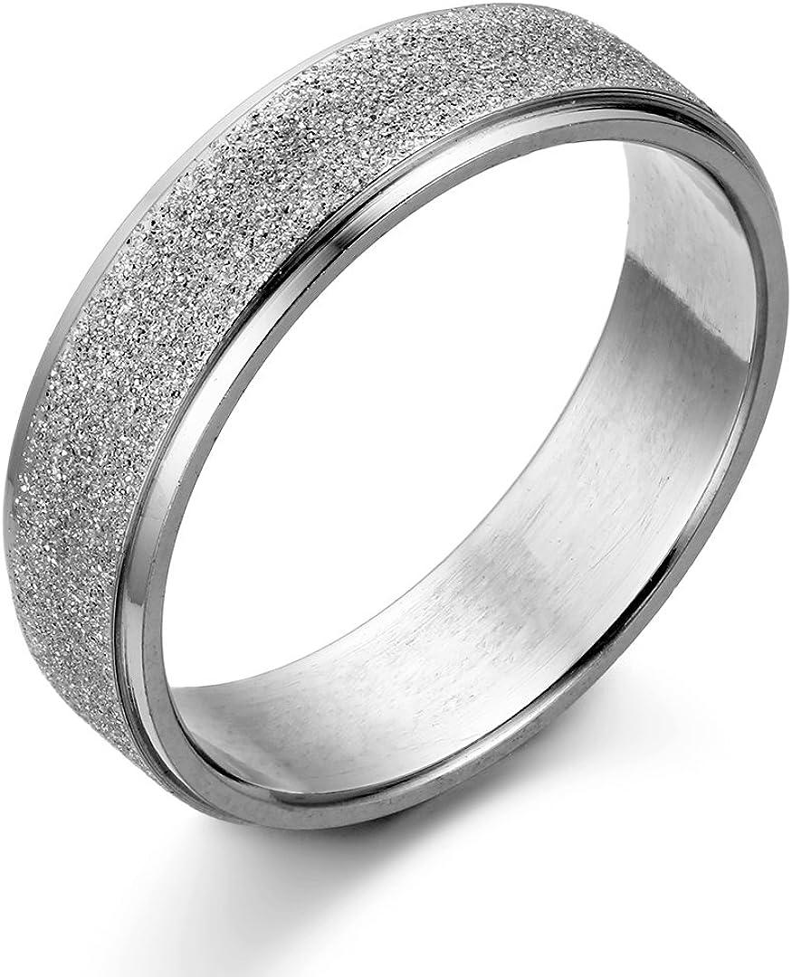 JewelryWe de acero inoxidable para hombre-anillo pareja anillos de ...
