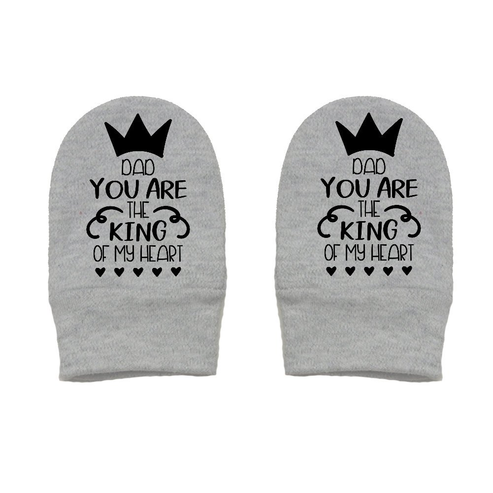 Thick /& Soft Baby Mittens Mashed Clothing Dad You Are The King Of My Heart Thick Premium Daddy Gift Fathers Day
