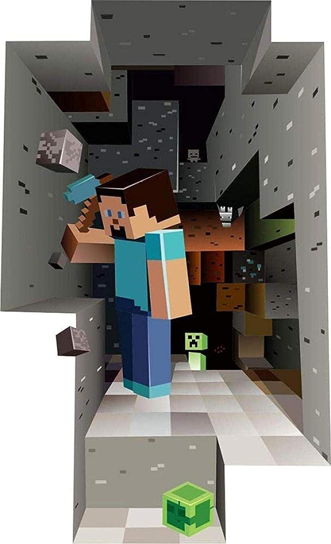 50 Cm Gtrb Wandsticker Minecraft Cartoon Game 3d Wandaufkleber Fur Kinderzimmer Wandbild Poster Wohnkultur Wandtattoo Poster Platz Welt 70 Malerbedarf Werkzeuge Tapeten Wandtattoos Bilder
