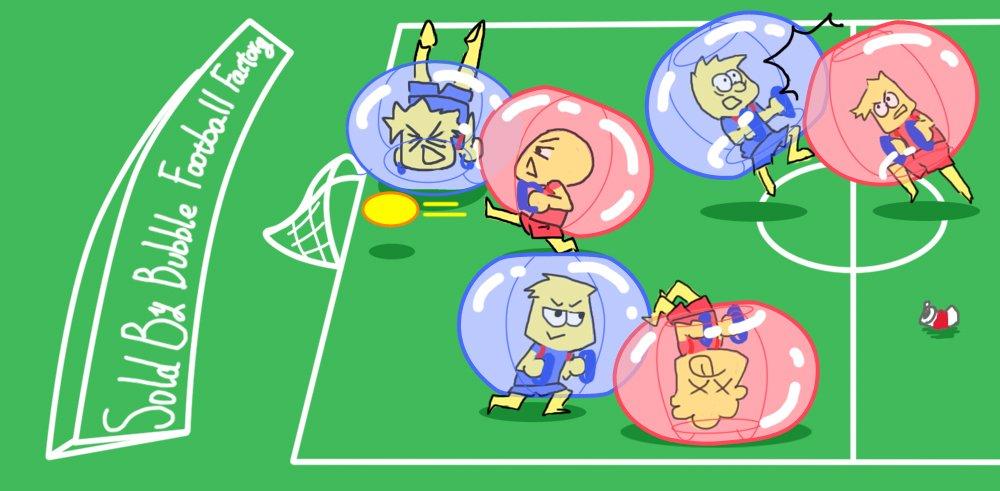 Bubble Soccer Balls Dia 5' (1.5m) Human Hamster Ball, Bubble Football,Bumper Ball, Zorbing Ball, Knocker Ball, smash ball stress ball Loopy Ball ( New Black Dot) by Garybank (Image #9)
