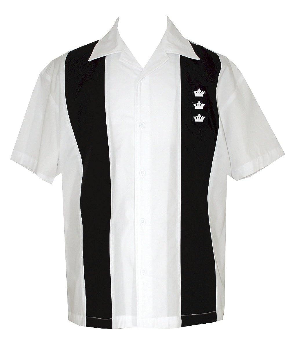 Lucky Paradise Mens Short Sleeve 100 Cotton Bowling Shirt Button