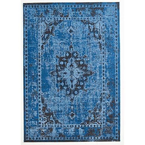 Design Teppich Vintage Used Antik blau 160 x 230 cm