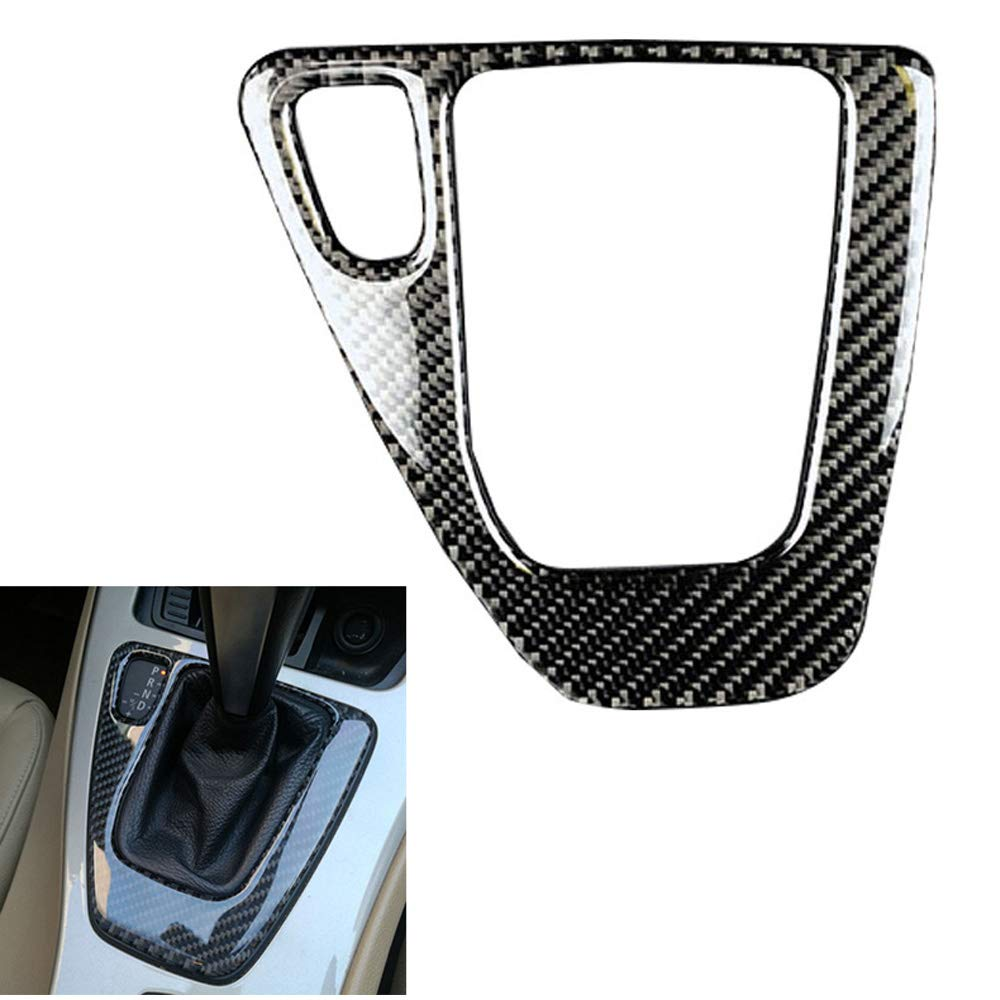 Ancher Real Carbon Fiber Gear Shift Control Panel Sticker Cover Mix-Color for 3 Series BMW E90 E92 with M Stripe Left Hand Drive