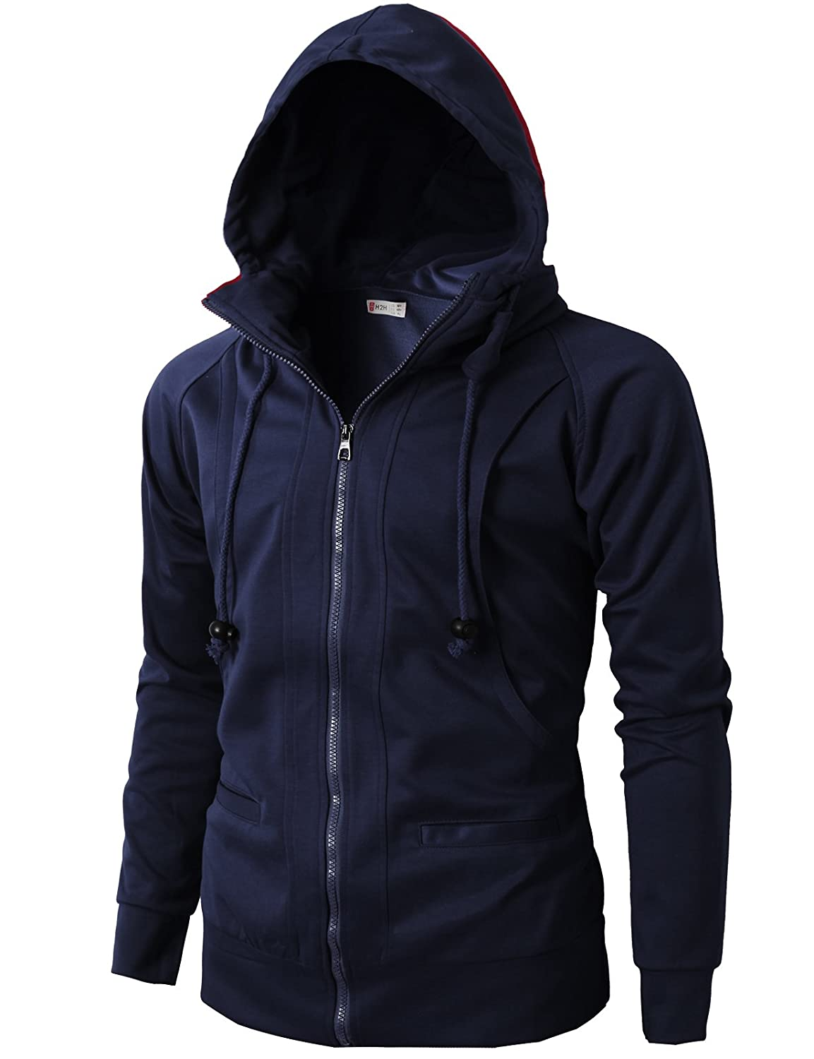 70a6fecc6897 H2H Mens Casual Fashion Active Jersey Slim Fit Hoodie Zip-Up at Amazon  Men s Clothing store