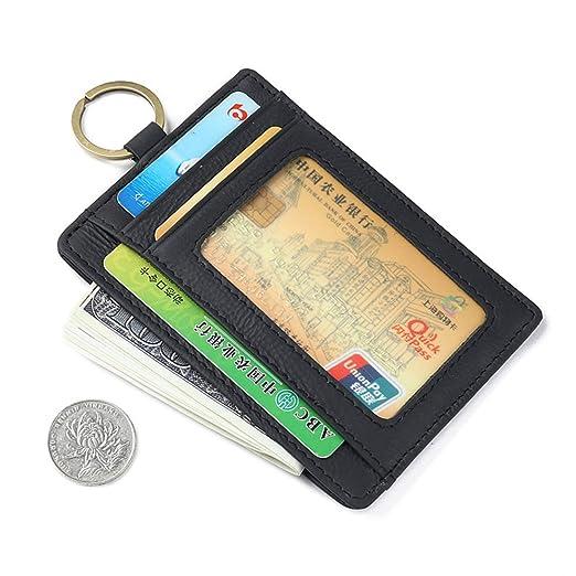 464ee69e9e6bf0 RFID Blocking Men Genuine Leather Front Pocket Wallet Money Clip ID Credit  Card Holder+Key