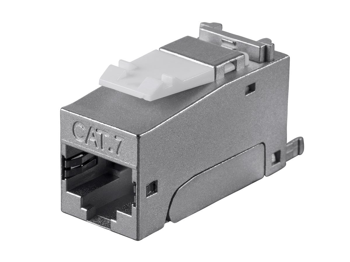 Monoprice Entegrade Series Cat7 Or Cat6a Rj 45 Shielded Keystone Stove Wiring Diagram Toolless Jack 10 Pack Computers Accessories
