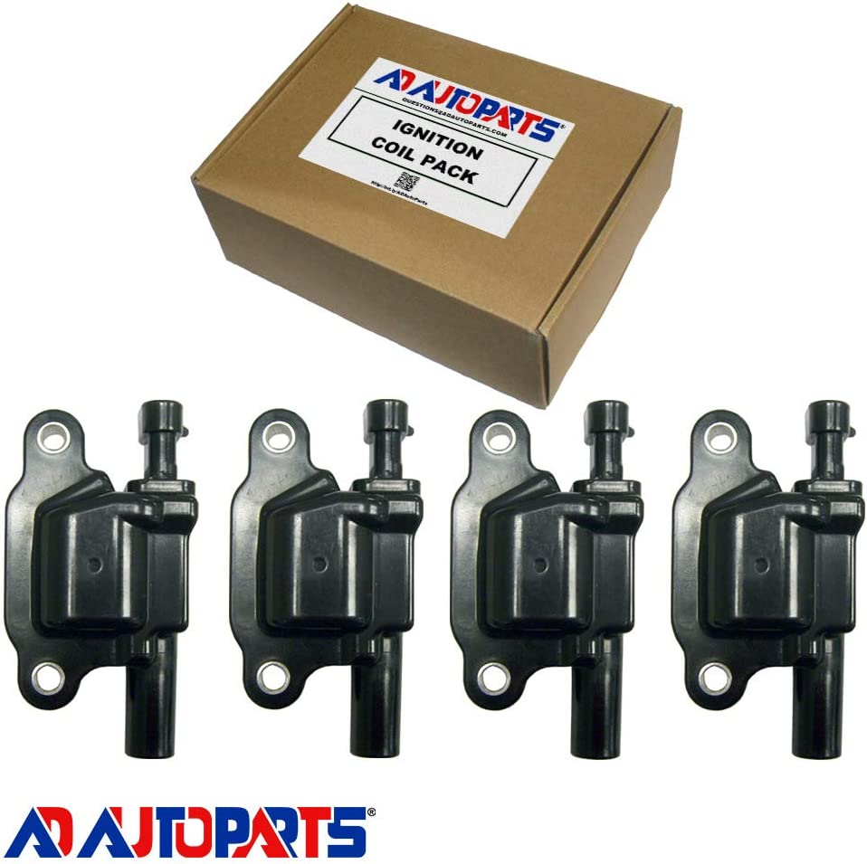 New AD Auto Parts High Performance Ignition Coil Set of 8 For Buick Cadillac Chevrolet GMC Hummer Isuzu Pontiac Saab Workhorse D513A