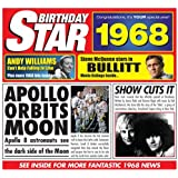 1968 Birthday Gift - 1968 Chart Hits CD and 1968 Birthday Card