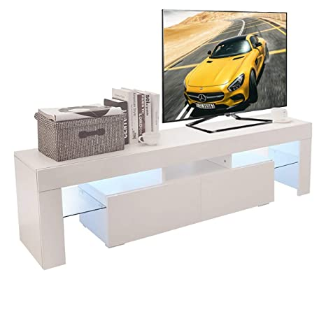 Amazon.com: Holarose - Mueble de TV LED moderno – Soporte de ...