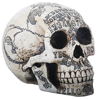Ouija Symbols Skull Skeleton Head Halloween Figurine