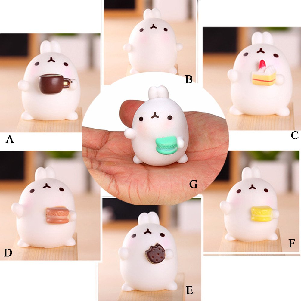 Kawaii Slow Soft Rising Squishy Squeezen Dingding Cute Mini Cat Fidget Toy Stress Reliever Kids Toy Gift Raptop (E 3)