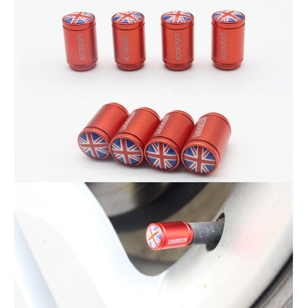 /4/PCs//Lot Dsycar /él/égante Drapeau Anglais Bouchons de valve pour v/élo moto Pneus de voiture de valve Stem poussi/ère Bouchons pour voiture D/écoration/