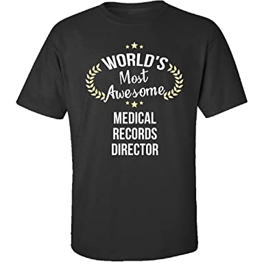 Men Adult Shirt Worlds Best Medical Records Director Gift Activewear