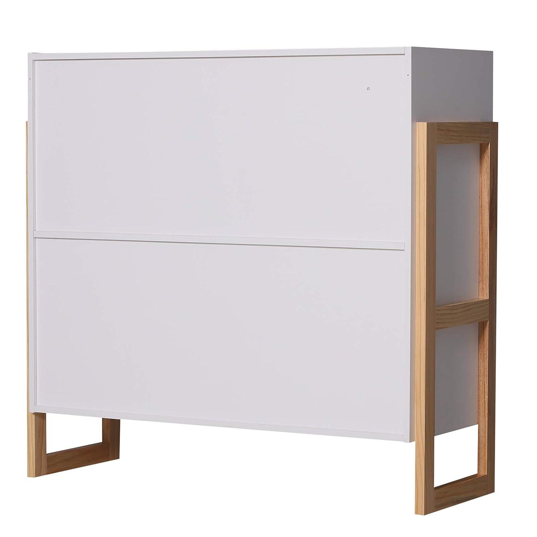 Mueble Aparador Para Cocina.Muebles Homcom Armario Gabinete Consola Armario 4 Cubos
