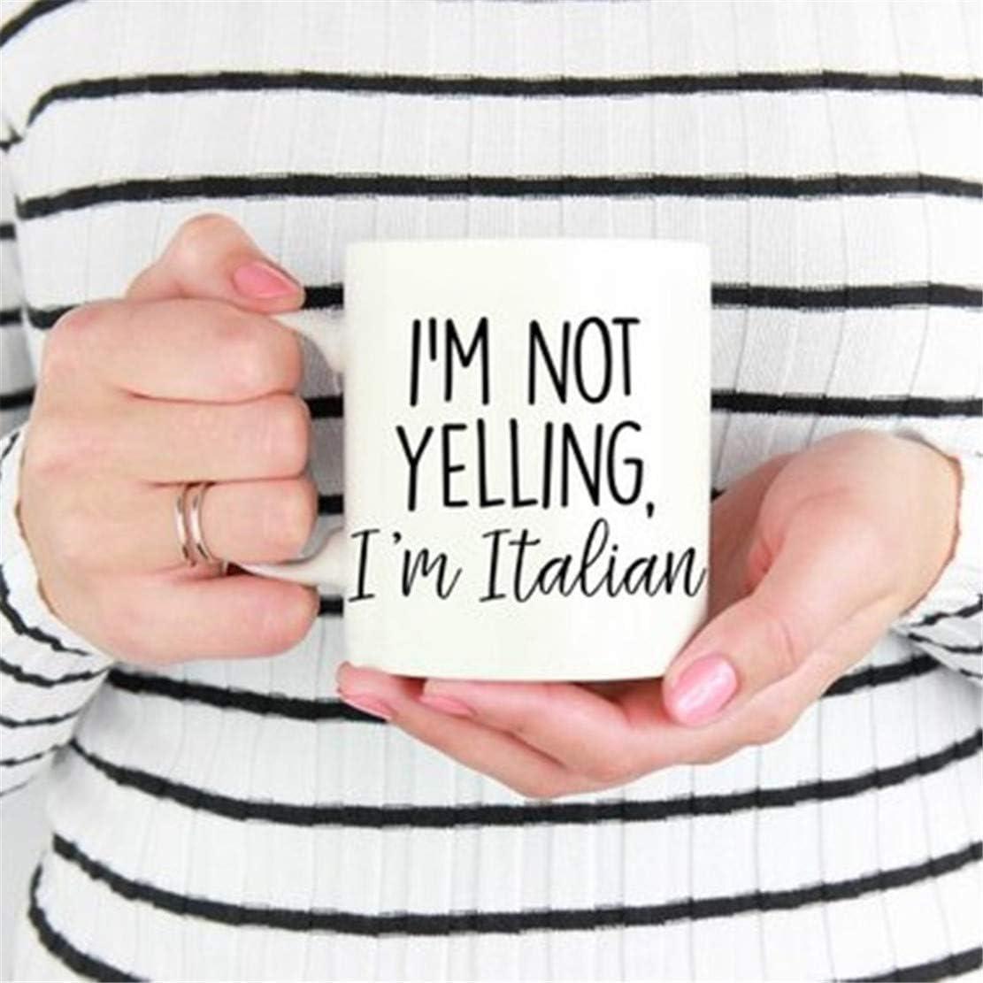 N\A Taza Italiana Divertida, Taza de Italia, Italia, Taza de café Italiana, Orgullo Italiano, Regalo Italiano, Regalo para la Herencia Italiana, Italiana