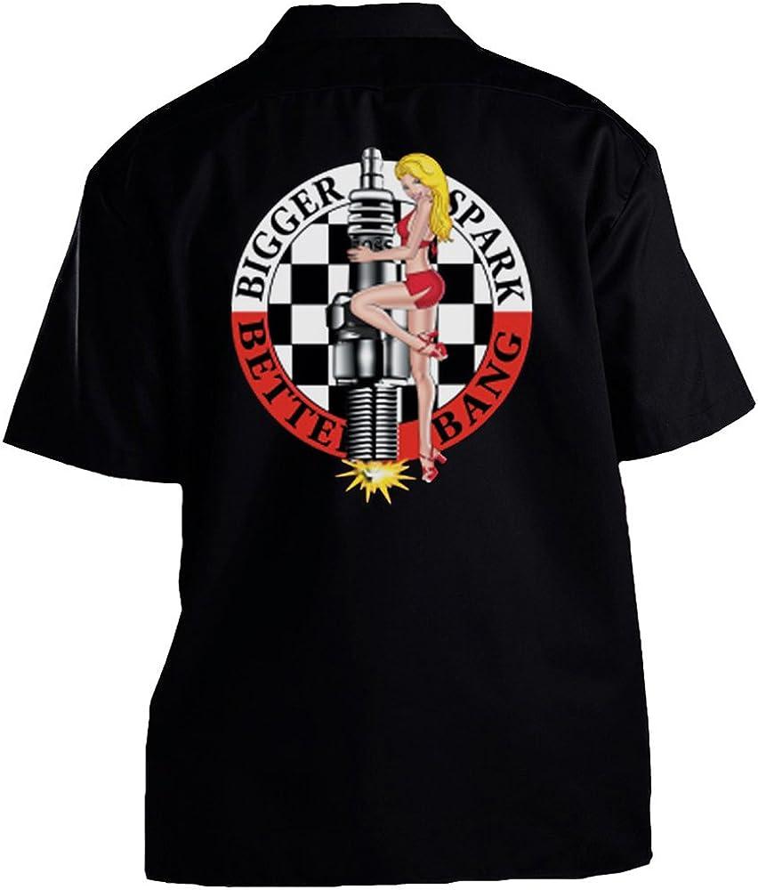 GearHead Alley Bigger Spark Better Bang - Camisa de Trabajo - Negro - X-Large: Amazon.es: Ropa y accesorios