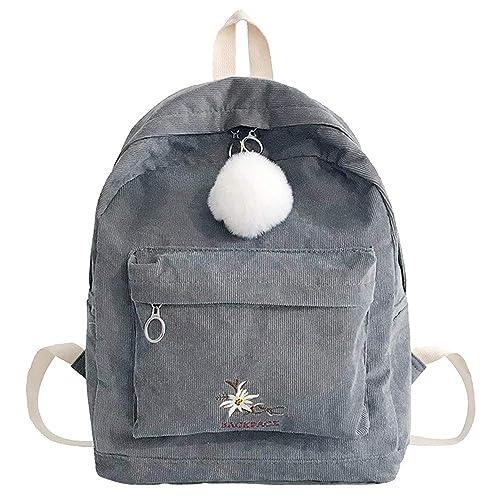 0ed02eace79f3 Bfmyxgs Stylische Tasche für Frauen-Mädchen-Mädchen-Mode-Cord-Schule  Rucksack Hairball Reisen Umhängetasche Rucksack Schultertasche Handtasche  Totes Taille ...