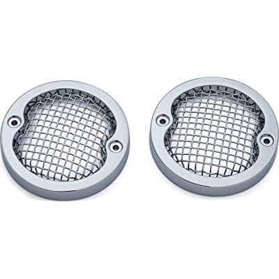 "Kuryakyn 6513 Motorcycle Lighting Accessory: Mesh Bezels for 3-1/4"" Turn Signal/Blinker Lights, 1986-2020 Harley-Davidson Road King Motorcycles, Chrome, 1 Pair: Automotive"