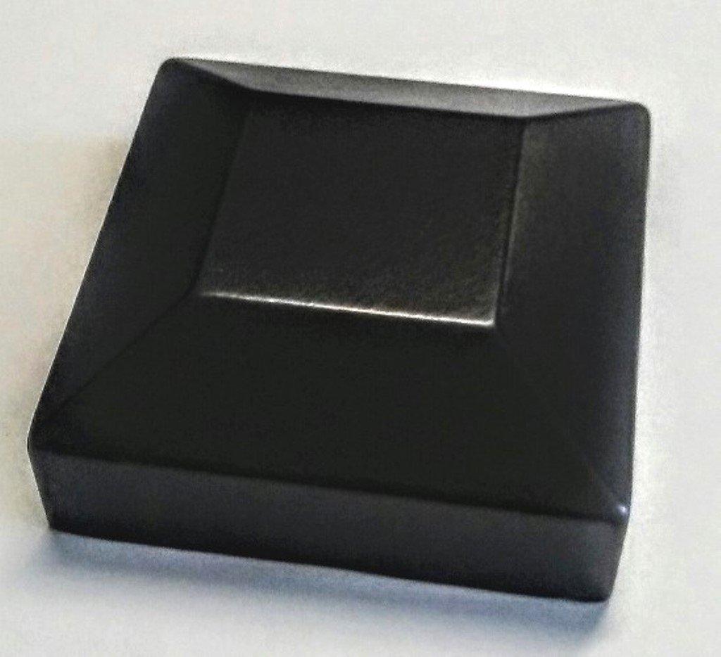Lot of 10 Aluminum Flat Post Cap fits 2'' Sq (3 Colors to choose from) (Black)
