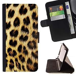 Momo Phone Case / Flip Funda de Cuero Case Cover - Patrón manchas de piel de oro de Brown - LG Nexus 5 D820 D821