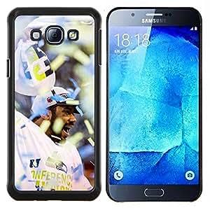 YiPhone /// Prima de resorte delgada de la cubierta del caso de Shell Armor - Fanático del fútbol americano - Samsung Galaxy A8 A8000