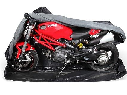 Premium Moto Protectora Cover para Verano & Invierno | Lona en 600d Oxford para Indoor & Outdoor | Muy Resistente y Estable | de ma XXL | Extra Soft ...