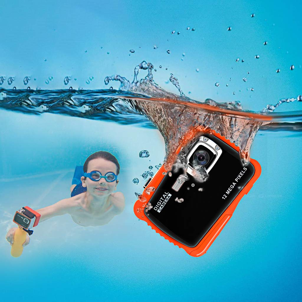 Veeca Waterproof Kids Digital Camera 12MP HD Photo Resolution Underwater Camcorder with 8X Digital Zoom Flash Mic and 8G SD Card 3 Non-Rechargeable Batteries Included by Veeca (Image #4)