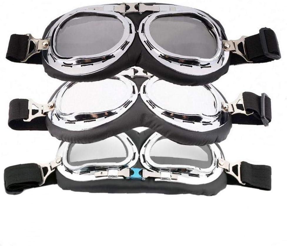 Motorrad-Schutzbrille Anti-UV Adjustable Motorradbrille Scooter Schutzbrillen f/ür Kinder M/änner und Frauen l/öschen
