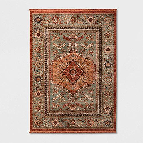 (threshold Jewel Toned Woven Rug Spiced Green 7'X10')