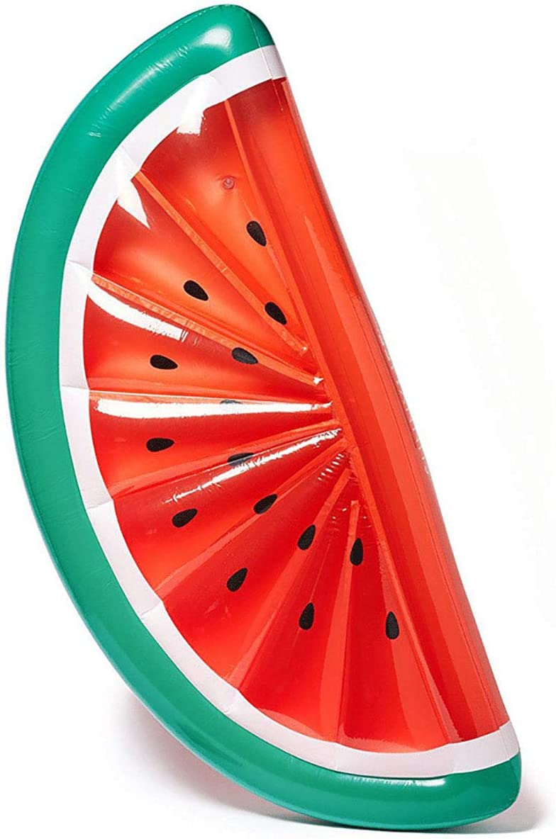 Premium Luftmatratze Wassermelone Matratze aufblasbar Luft Matratze Luftbett Liege Schwimmliege Schwimmring Schwimm Ring Pool Lounge Water Melone halbrund rot gr/ün 180 x 90 cm