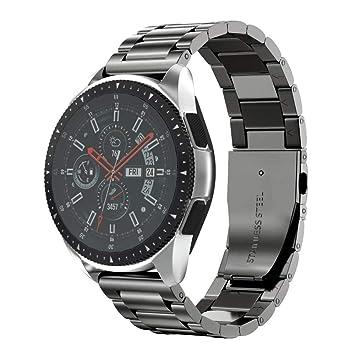 NotoCity Bracelet Galaxy Watch 46mm, Bande de Montre en Acier Inoxydable de 22mm pour Gear