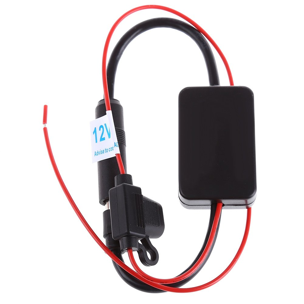 208 Car Radio FM AM Antenna Signal Amplifier Booster for Marine Car Boat RV 12V Ant