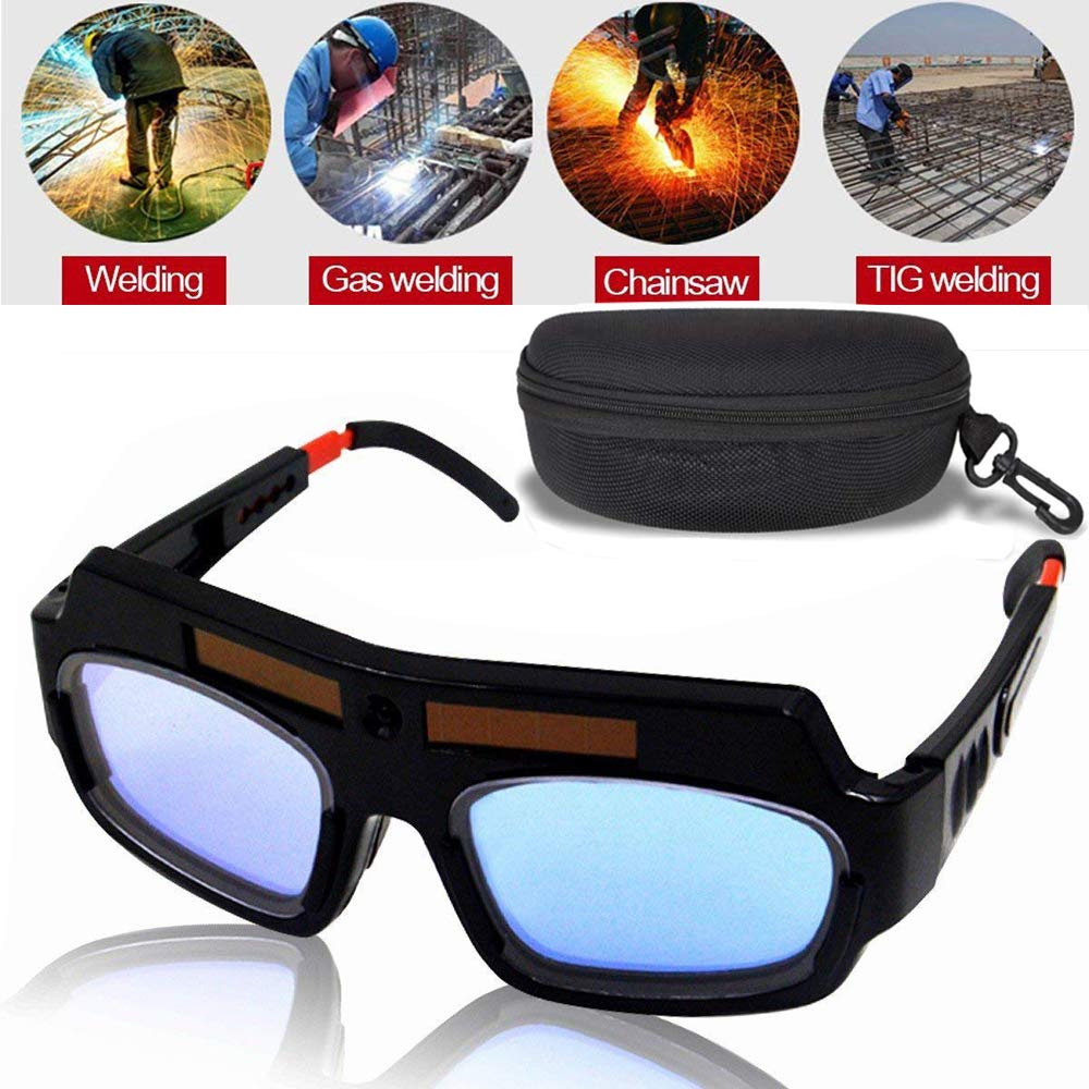 LETBUY Welding Glasses Mask Helmet Eyes Goggles, Solar Auto Darkening Welding Goggle Safety Protective Eyes Goggle, Professional PC Lens Welder Soldering Mask Anti-Flog Anti-Glare Goggles