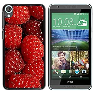 Be Good Phone Accessory // Dura Cáscara cubierta Protectora Caso Carcasa Funda de Protección para HTC Desire 820 // Raspberries Red Berries Fresh Garden Healthy