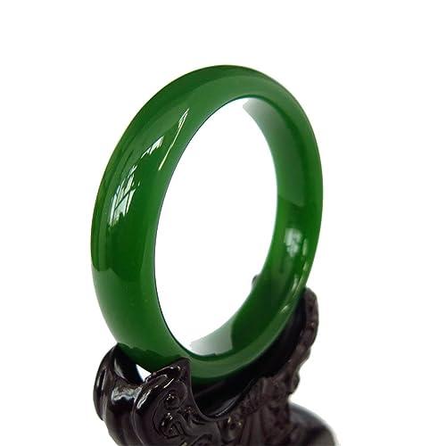 Natural Handmade Green Chinese Hetian Nephrite Jade Bangle Bracelet 4Rvcq4cLr