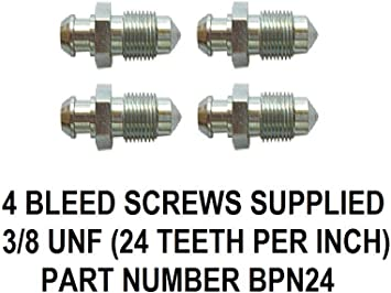 """Bleed Screw Brake Pipe Qty 10 Pack Imperial 3//8/"""" UNF 24 TPI Male Connector BPN24"""
