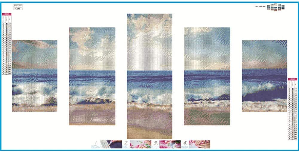 5D Full Drill Diamond Painting Embroidery Cross Stitch Craft Home Decor DIY Gift