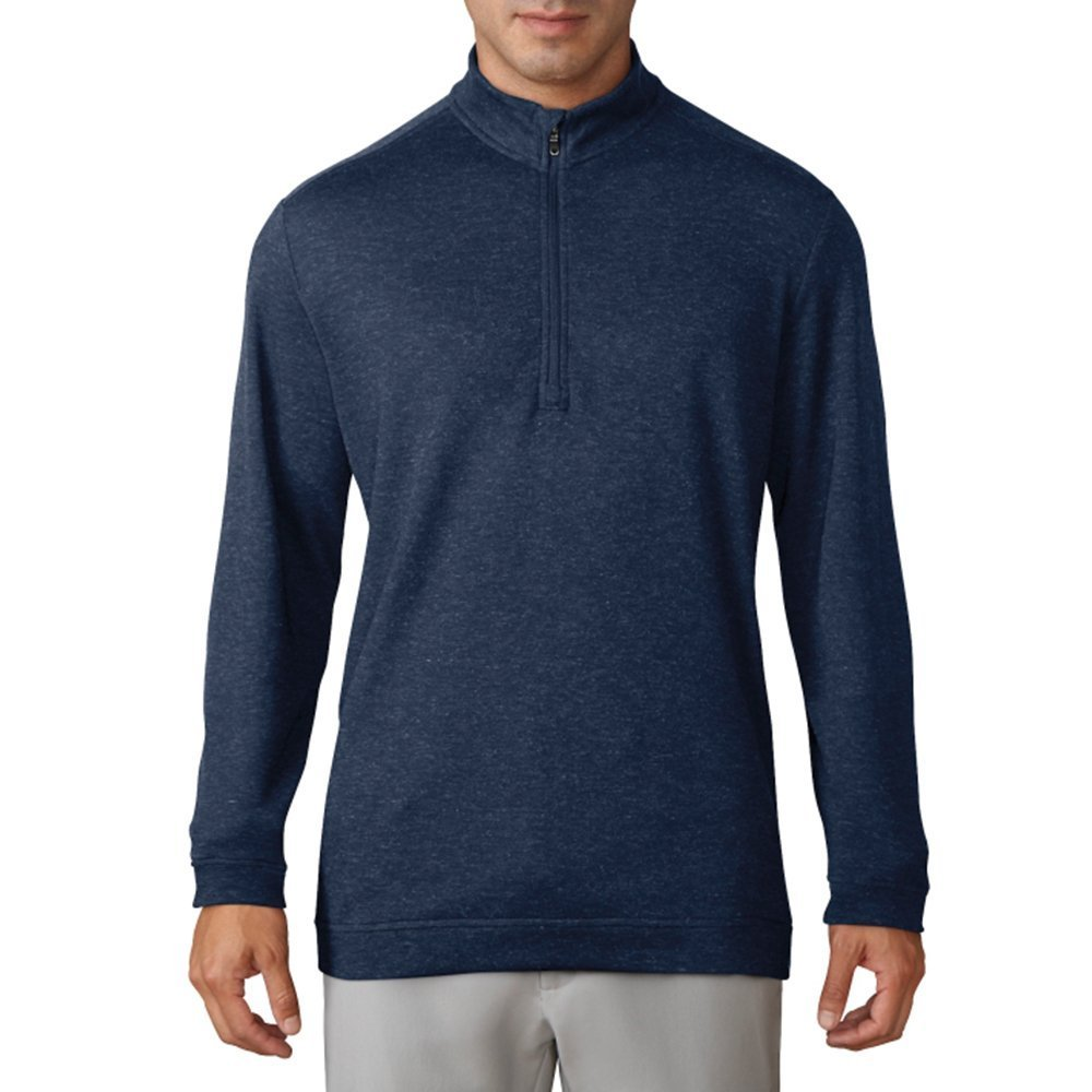 adidas Golf Men's Wool 1/4 Zip Pullover Top, ST Dark Slate Mel, Large by adidas