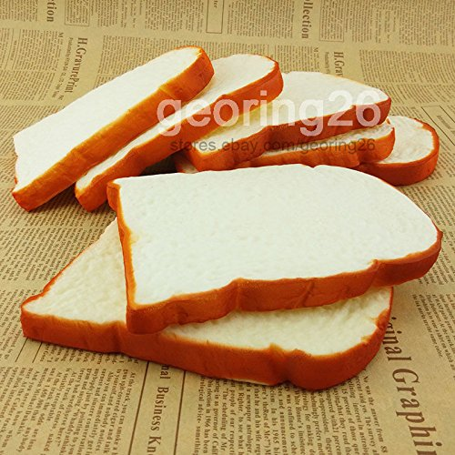 [14CM Jumbo Squishy Soft Scent sliced Bread Toast Kids Toy Hand Pillow 1PCS] (Cute Slimer Costumes)