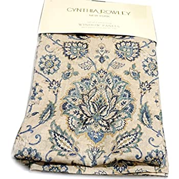 Amazon Com Cynthia Rowley Floral Paisley Scrolls Window