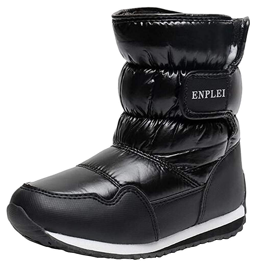 Toddler//Little Kid//Big Kid MOREMOO Boys Girls Outdoor Waterproof Cold Weather Fur Lined Winter Snow Boots
