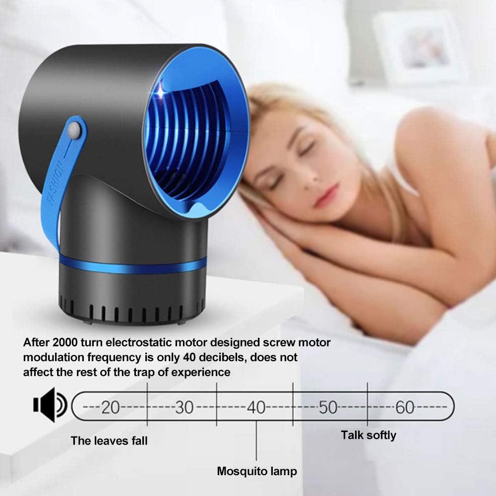 Trampa para Mosquitos Mosca de Insectos Electr/ónica de Interior Trampa para Moscas Mosquito Midge UV L/ámpara USB con Alimentaci/ón para Beb/és Seguro para Ni/ños No Zapper White