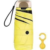 Vicloon Mini Paraguas, Paraguas de Viaje Portátil 6 Varillas, Paraguas Plegables con 210T Negro Tela de Goma, Aleación…